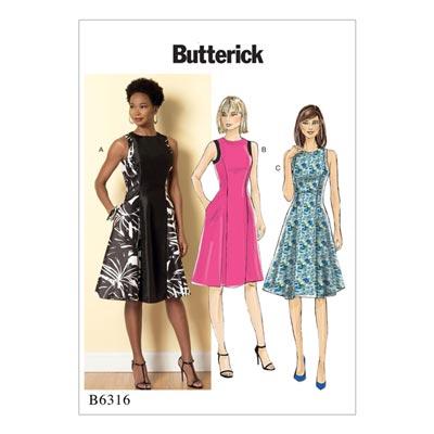 Kleid, Butterick 6316 | 42 - 50