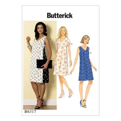 Kleid, Butterick 6317 | 32 - 40