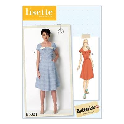 Kleid, Butterick 6321 | 40 - 48
