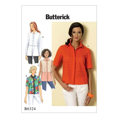 Top / Bluse, Butterick 6324 | 32 - 40