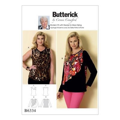 Plus Size - Top/Tunika, Butterick 6334 | 2XL - 6XL