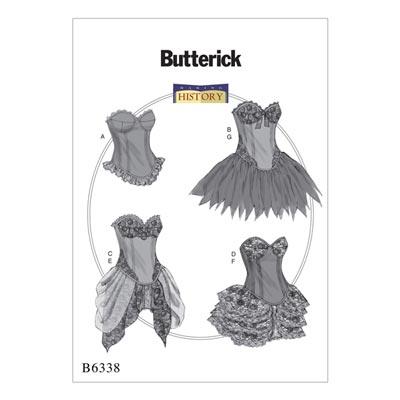 Historisches Kostüm, Butterick 6338 | 40 - 48