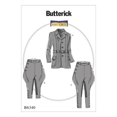 Historisches Kostüm, Butterick 6340 | 44 - 52