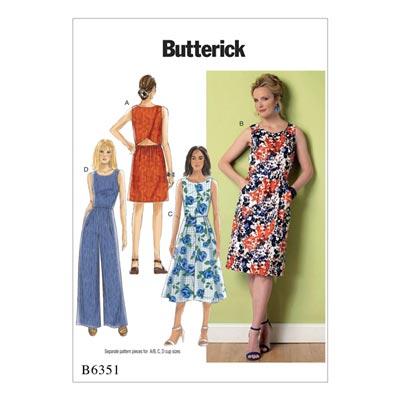 Kleid, Butterick 6351 | 32 - 40