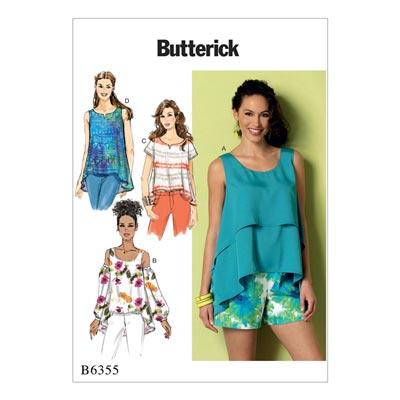 Top, Butterick 6355 | 42 - 52
