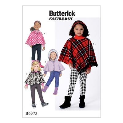 Kinder - Poncho/Umhang, Butterick 6373 | 122 - 134