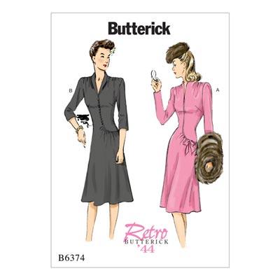 Kleid, Butterick 6374 | 32 - 40