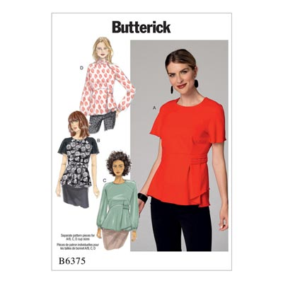 Top/Bluse, Butterick 6375 | 32 - 40