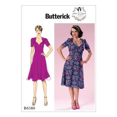 Kleid, Butterick 6380 | 32 - 40