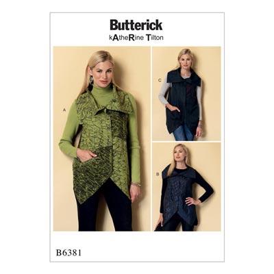Weste, Butterick 6381 | 30 - 40