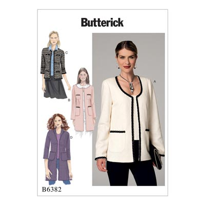 Jacke, Butterick 6382 | 32 - 40