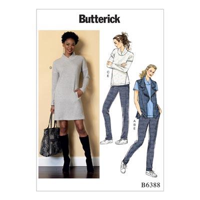 Top/Kleid/Weste/Hose, Butterick 6388 | 30 - 40