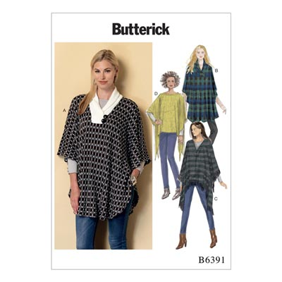 Poncho, Butterick 6391 | 42 - 52