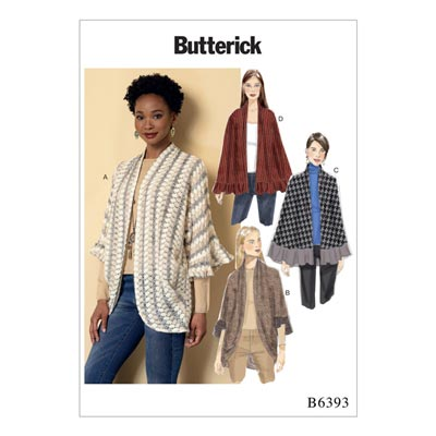 Poncho, Butterick 6393 | 32 - 40