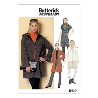Mantel, Butterick 6394 | 32 - 40