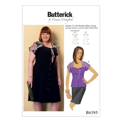Plus Size  -  Kleid/Bluse, Butterick 6395 | XXL  -