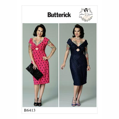 Kleid, Butterick 6413 | 32 - 40
