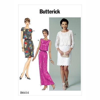 Kleid, Butterick 6414 | 32 - 40