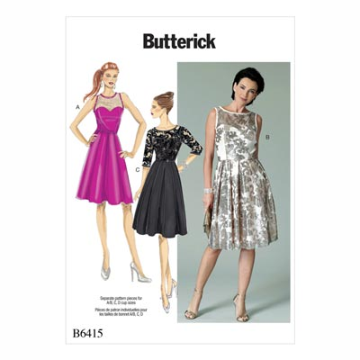 Kleid, Butterick 6415 | 32 - 40