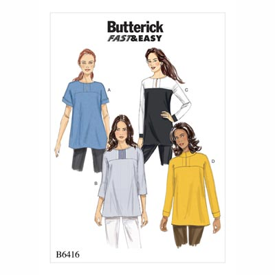 Tops, Butterick 6416 | 32 - 40