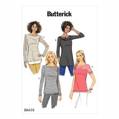 Tops, Butterick 6418 | 32 - 40