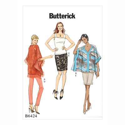 Poncho/Top/Rock, Butterick 6424 | 32 - 40