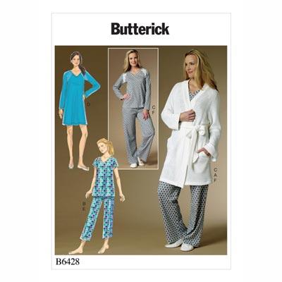 Top/Bademantel/Hose, Butterick 6428 | 32 - 40