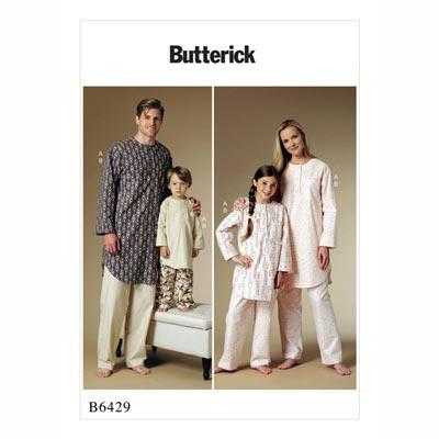 Schlafanzug für Kinder, Butterick 6429 | 104 - 146