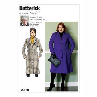 Plus Size - Mantel, Butterick 6430 | 2 XL - 6 XL