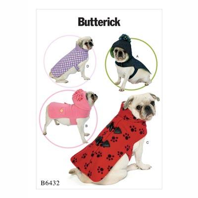 Hundemantel, Butterick 6432 | One Size