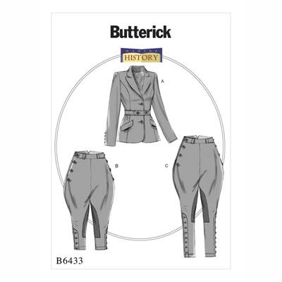 Historisches Kostüm, Butterick 6433 | 32 - 40