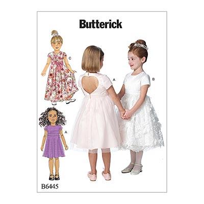 Kinderkleid, Butterick 6445 | 122 - 134