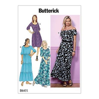 Kleid, Butterick 6451 | 32 - 40