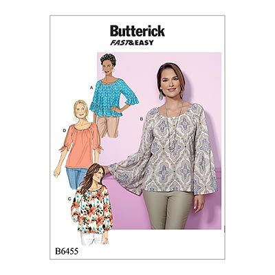 Top, Butterick 6455 | 32 - 40
