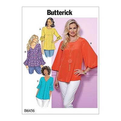 Top, Butterick 6456 | 32 - 40