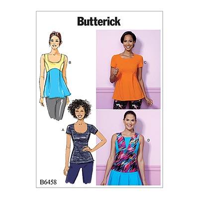 Top, Butterick 6458 | 32 - 40