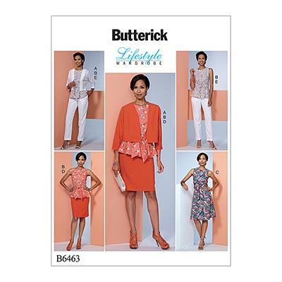 Jacke/Top/Hose/Rock/Kleid, Butterick 6463 | 32 -