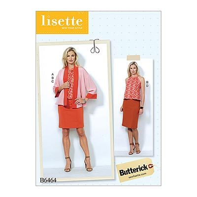 Jacke / Top/ Rock, Butterick 6464 | 32 - 40