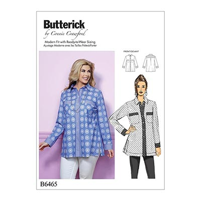 Plus Size - Top, Butterick 6465 | 2XL - 6XL