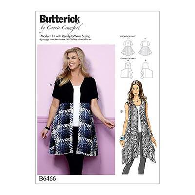 Plus Size - Top, Butterick 6466 | 2XL - 6XL