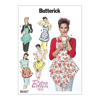 Schürze, Butterick 6467 | 32 - 48