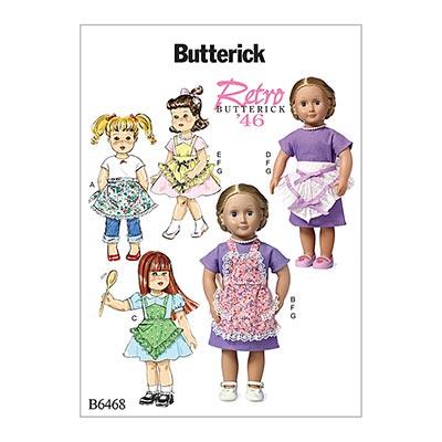 Puppenbekleidung 46 cm, Butterick 6468