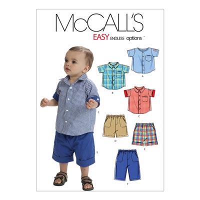 Babyshirt/Shorts, McCalls 6016 | One Size