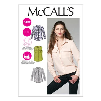 Bluse, McCalls 6436 | 34-42