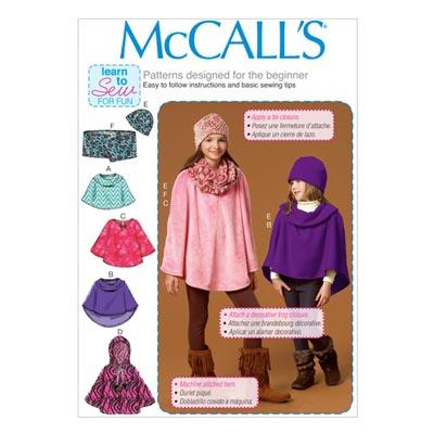 Poncho/Hut/Schal, McCalls 7012 | 38-48