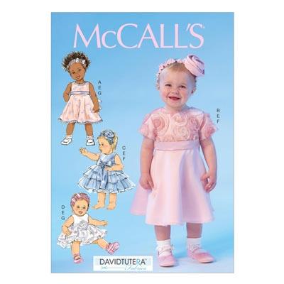 Babykleid/Höschen/Haarband, McCalls 7037 | One
