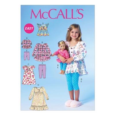 Top/Kleid/Puppenkleider, McCalls 7043 | 122-134