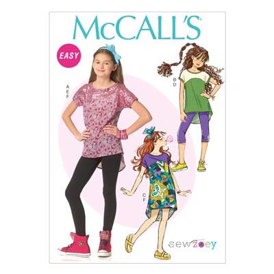 Top / Kleid / Leggings / Haarband, McCALL'S 7114