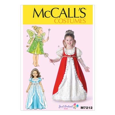 Kinder- / Mädchenkostüme, McCALL'S 7212