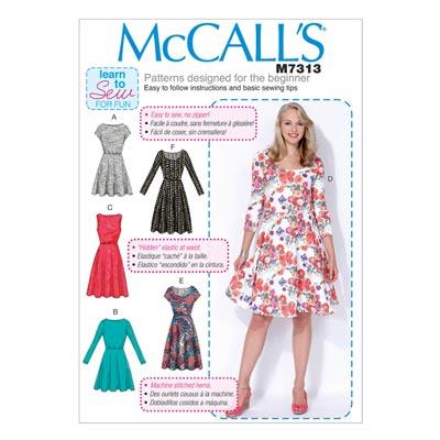 Kleid, McCalls 7313 | 34-42